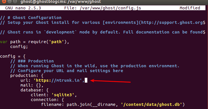 install Ghost Blog CMS on Ubuntu