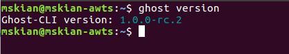 Ghost-CLI