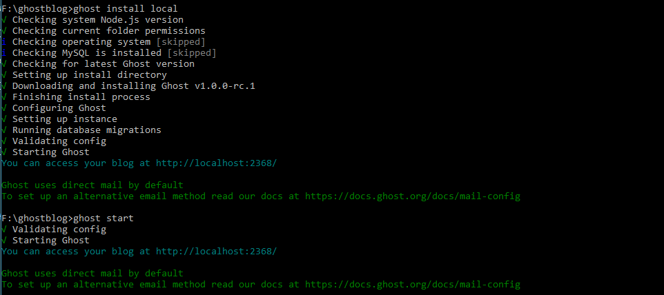Install Ghost-cli on Windows 10